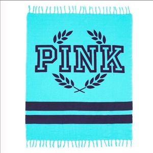 Victoria's Secret Pink Boyfriend Fringe Blanket